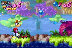 In-game screen of the game Rayman - 10th Anniversary on Nintendo GameBoy Advance