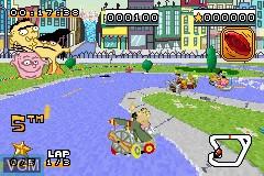 In-game screen of the game 2 Games in 1 - Cartoon Network Block Party + Cartoon Network Speedway on Nintendo GameBoy Advance
