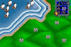 In-game screen of the game 2 Games in One! - Gauntlet + Rampart on Nintendo GameBoy Advance