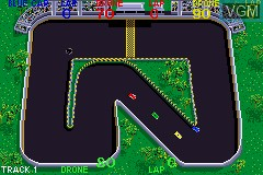 In-game screen of the game 2 Games in One! - Spy Hunter + Super Sprint on Nintendo GameBoy Advance