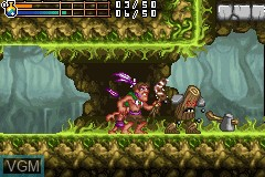In-game screen of the game Tak - The Great Juju Challenge on Nintendo GameBoy Advance