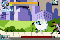 In-game screen of the game Danny Phantom - The Ultimate Enemy on Nintendo GameBoy Advance