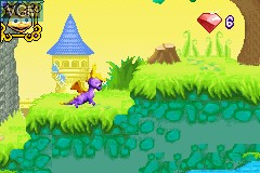 In-game screen of the game 2 Games in 1 - Crash Bandicoot - Fusion & Spyro - Fusion on Nintendo GameBoy Advance