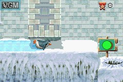 In-game screen of the game Madagascar - Operation Penguin on Nintendo GameBoy Advance