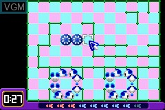 In-game screen of the game 2 Games in 1 - Columns Crown + ChuChu Rocket! on Nintendo GameBoy Advance