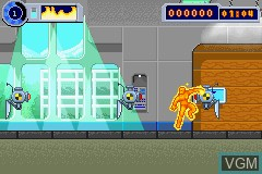 In-game screen of the game Fantastic 4 - Flame On on Nintendo GameBoy Advance