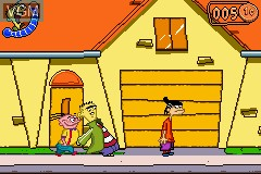 In-game screen of the game Ed, Edd n Eddy - The Mis-Edventures on Nintendo GameBoy Advance