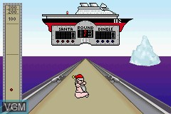 In-game screen of the game Elf Bowling 1 & 2 on Nintendo GameBoy Advance