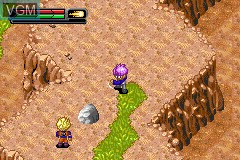 In-game screen of the game 2 Games in 1 - Dragon Ball Z - The Legacy of Goku I & II on Nintendo GameBoy Advance