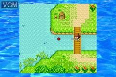 In-game screen of the game Kawa no Nushi Tsuri 3 & 4 on Nintendo GameBoy Advance