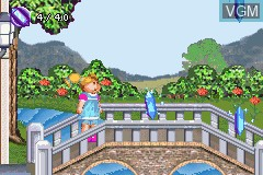 In-game screen of the game Cabbage Patch Kids - The Patch Puppy Rescue on Nintendo GameBoy Advance