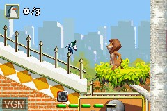 In-game screen of the game Madagascar on Nintendo GameBoy Advance