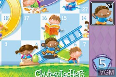 In-game screen of the game 3 Game Pack! - Candy Land + Chutes and Ladders + Original Memory Game on Nintendo GameBoy Advance