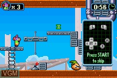 In-game screen of the game VeggieTales - LarryBoy and the Bad Apple on Nintendo GameBoy Advance