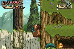 In-game screen of the game Open Season on Nintendo GameBoy Advance