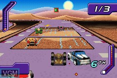 In-game screen of the game 2 Game Pack! - Hot Wheels - Stunt Track Challenge + Hot Wheels - World Race on Nintendo GameBoy Advance