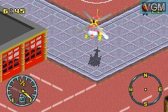 In-game screen of the game 2 Game Pack! - Matchbox Missions - Emergency Response & Air, Land and Sea Rescue on Nintendo GameBoy Advance