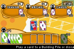 In-game screen of the game 2 Game Pack! - Uno & Skip-Bo on Nintendo GameBoy Advance