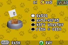 In-game screen of the game Best Friends - Hunde & Katzen on Nintendo GameBoy Advance