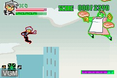 In-game screen of the game Danny Phantom - Urban Jungle on Nintendo GameBoy Advance