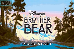 In-game screen of the game 2 Games in 1 - Disney Princess + Brother Bear on Nintendo GameBoy Advance