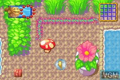 In-game screen of the game 2 Games in 1 - Finding Nemo + Finding Nemo - The Continuing Adventures on Nintendo GameBoy Advance
