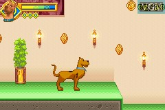 In-game screen of the game 2 Games in 1 - Scooby-Doo + Scooby-Doo 2 - Monsters Unleashed on Nintendo GameBoy Advance