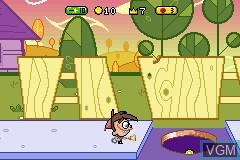 In-game screen of the game 2 Games in 1 - SpongeBob SquarePants - Battle for Bikini Bottom + The Fairly OddParents! - Breakin' da Rules on Nintendo GameBoy Advance