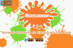In-game screen of the game 2 Games in 1 - The SpongeBob SquarePants Movie + SpongeBob SquarePants and Friends in Freeze Frame Frenzy on Nintendo GameBoy Advance