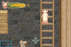 In-game screen of the game Charlotte's Web on Nintendo GameBoy Advance