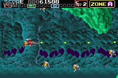 In-game screen of the game Darius R on Nintendo GameBoy Advance