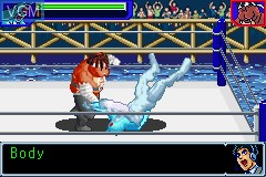 In-game screen of the game Ultimate Muscle - The Kinnikuman Legacy - The Path of the Superhero on Nintendo GameBoy Advance