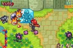 In-game screen of the game Elemix! on Nintendo GameBoy Advance