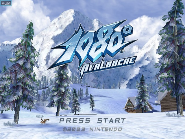 Title screen of the game 1080 Silver Storm on Nintendo GameCube