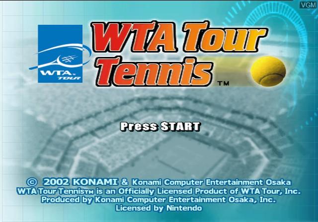 Title screen of the game WTA Tour Tennis - Pro Evolution on Nintendo GameCube