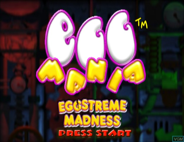 Title screen of the game Egg Mania - Eggstreme Madness on Nintendo GameCube