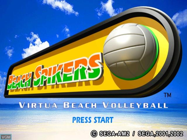 Title screen of the game Beach Spikers - Virtua Beach Volleyball on Nintendo GameCube