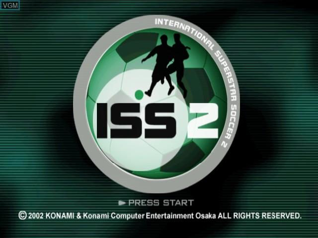 Title screen of the game International Superstar Soccer 2 on Nintendo GameCube