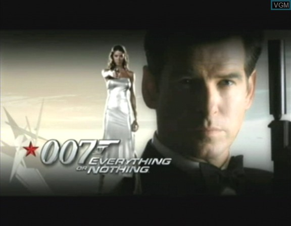 Title screen of the game 007 - Everything or Nothing on Nintendo GameCube