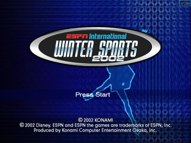 Title screen of the game ESPN International Winter Sports 2002 on Nintendo GameCube