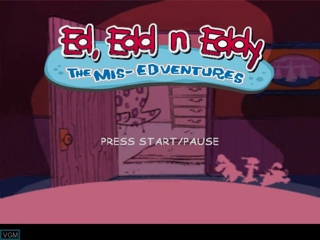 Title screen of the game Ed, Edd n Eddy - The Mis-Edventures on Nintendo GameCube