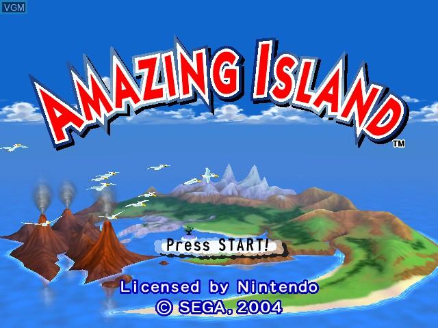 Title screen of the game Amazing Island on Nintendo GameCube