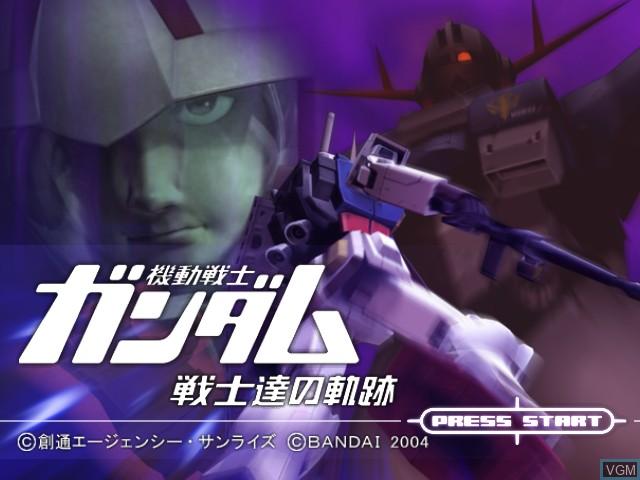 Title screen of the game Kidou Senshi Gundam - Senshitachi no Kiseki on Nintendo GameCube