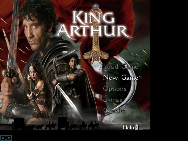 Title screen of the game King Arthur on Nintendo GameCube
