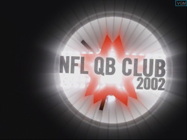 Title screen of the game NFL QB Club 2002 on Nintendo GameCube