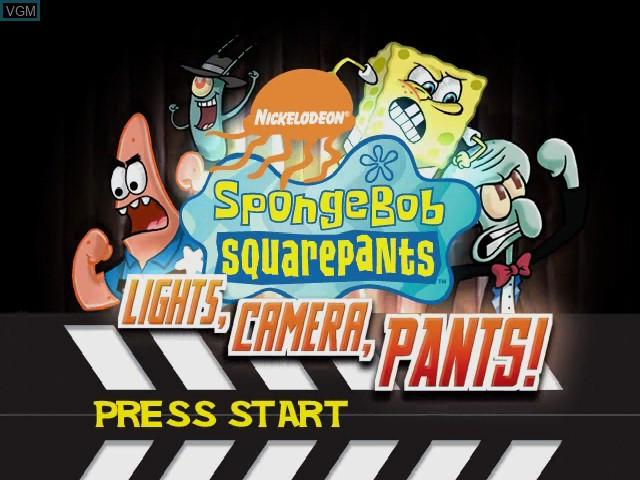 Title screen of the game SpongeBob Squarepants - Licht uit, Camera aan! on Nintendo GameCube
