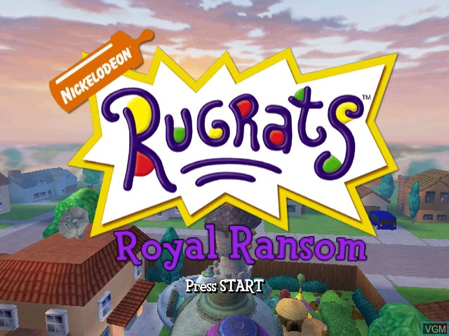 Title screen of the game Rugrats - Royal Ransom on Nintendo GameCube