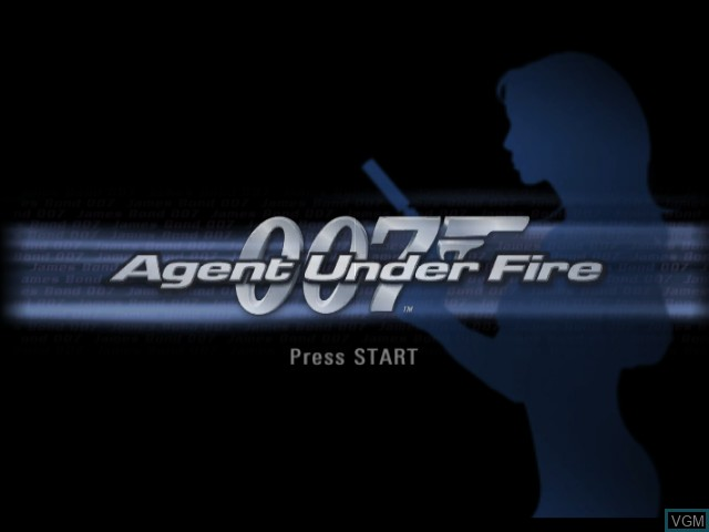 Title screen of the game 007 - Agent Under Fire on Nintendo GameCube