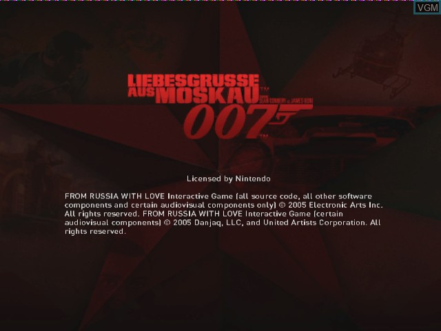 Title screen of the game 007 - Liebesgruesse aus Moskau on Nintendo GameCube