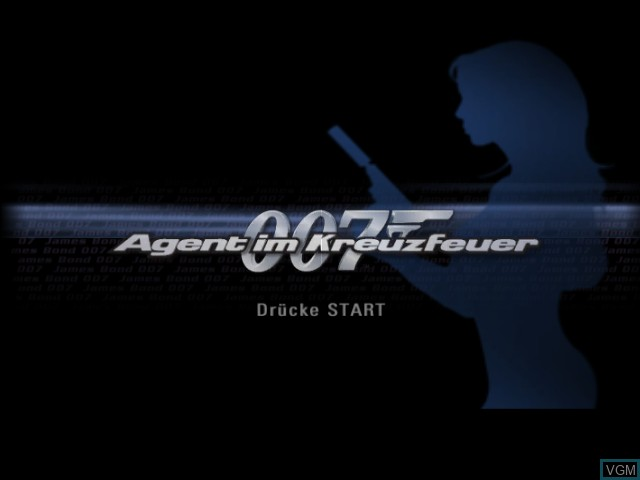 Title screen of the game 007 - Agent im Kreuzfeuer on Nintendo GameCube